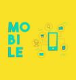 mobile phone social media network concept design vector image vector image