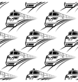 Modern train seamless pattern vector image vector image