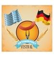 Oktoberfest celebration of Germany design vector image vector image
