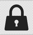 padlock icon in flat style lock unlock security vector image