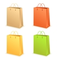 Paperbag set vector image vector image