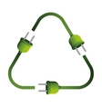 plugs in recycling symbol shape vector image