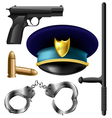 Police item set vector | Price: 3 Credits (USD $3)