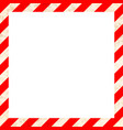 red and white stripes with grunge texture warning vector image vector image