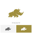 rhino logo concept rhino logo template vector image vector image
