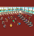 scenes inside a fitness center vector image vector image