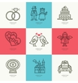 Set of romantic icons vector image
