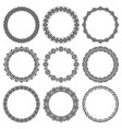 set of round frames in oriental style vector image
