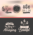 set vintage stickers vector image