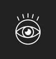 simple eye icon eyesight pictogram in flat style vector image vector image