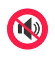 sound mute icon flat design silence mode vector image