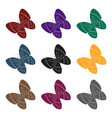 spring butterfly easter single icon in black vector image vector image