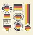 stickers tags and labels with germany flag vector image vector image