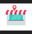 store or shop building location vector image vector image
