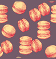 sweets seamless pattern cake macaron design vector image vector image