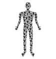 t-shirt man figure vector image