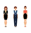 Three business women in office clothes vector image vector image