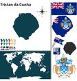 Tristan da Cunha map vector image vector image