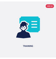 two color training icon from asian concept vector image vector image