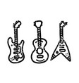 vintage styled guitar template music icon or logo vector image