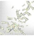 flying dollar banknotes cartoon money vector image