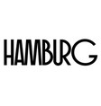 hamburg typographic stamp vector image