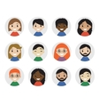Icons interracial people flat style vector image