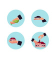 business man hands icon set vector image