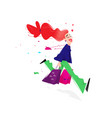 a cute girl with shopping a cute red-haired girl vector image vector image