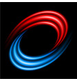 abstract swirl sign on black background vector image