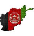 Afghanistan map with flag inside vector image vector image