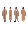 african american man dressed in elegant suit and vector image vector image