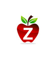 apple letter z logo design template vector image