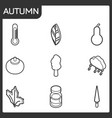 autumn isometric icons vector image