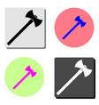 axe flat icon vector image vector image