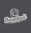 baseball logo and insignia vector image vector image