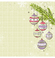 beige background with color christmas balls vector image vector image