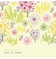 blossoming trees horizontal border seamless vector image