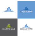 buildings real estate logo and icon vector image