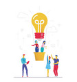 business idea - flat design style colorful vector image