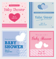 Card Baby shower invitation template vector image