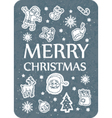 christmas card dark grey vector image vector image