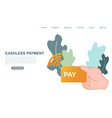 contactless cashless payment buying digital vector image vector image
