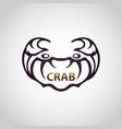crab logo icon design vector image vector image