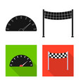 design of car and rally sign collection of vector image vector image