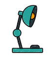 desk light lamp vector image