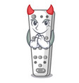 devil cartoon remote control from tv device vector image vector image