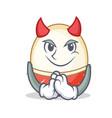 devil rambutan mascot cartoon style vector image vector image