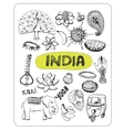 Doodle about India vector image