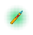 Electronic cigarette icon comics style vector image vector image